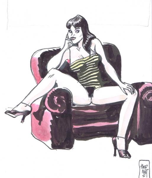 Illustrazione Jordi Bernet Chiara di Notte