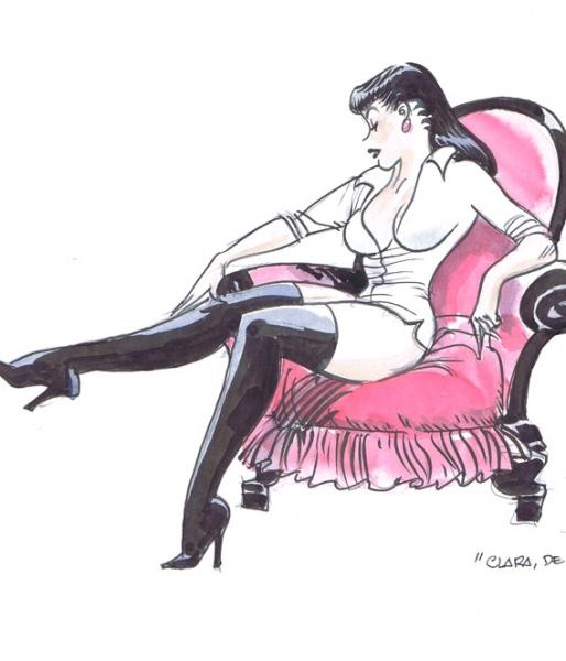 Sexy Chiara di notte in poltrona